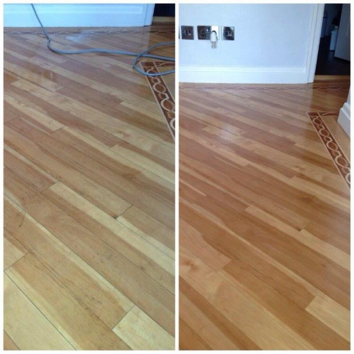 Wooden Flooring Before and after