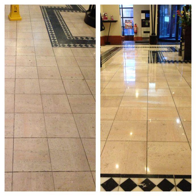 Marble Floor Cleaning and Re-Polishing | Rhino Rocks
